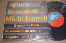 Michelangeli BRAHMS Paganini Variations BACH Chaconne - Odeon 10 inch QBLP 1044