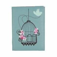 Vintage Birdcage PASSPORT COVER/HOLDER in Duck Egg Blue by Bombay Duck