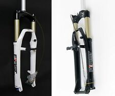 2012 RST FIRST MOUNTAIN Bike Air Suspension Fork Disc + V brake 100mm WHITE
