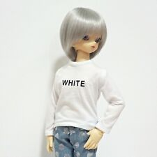 bjd msd 1/4 doll clothes, Top t-shirts basic white