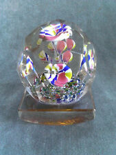 Rare Antique Bohemia Faceted Flower Crystal Glass blotter Paperweight c.1900