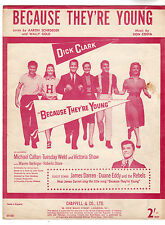Duane Eddy - Because They're Young Music Sheet 1960
