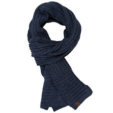 Timberland Mens Classic Wool Scarf in Navy - One Size From Get The Label