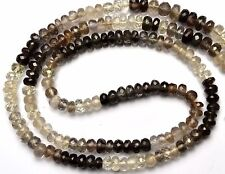 """Natural Multicolor Chrysoberyl Cats Eye Facet 4-5MM Rondelle Beads Necklace 16"""""""
