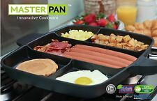 Master Pan Non-Stick Multi-Section 5-in-1 Frying Grill Induction Hob Masterpan