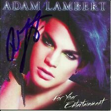 Adam Lambert signed For Your Entertainment cd