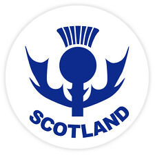 Scottish Car Bumper Window Round Sticker Decal Vinyl Scotland with Thistle