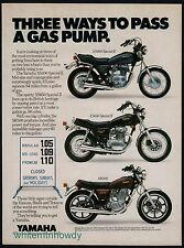 1980 YAMAHA XS400 and XS650 Special II, SR500  Motorcycle Photo AD
