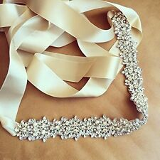 Wedding Sash Ivory bridal Belt Wedding Belt Sash Belt Pearl Belt Rhinestone Belt