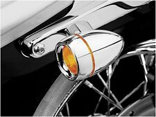 KURYAKYN DEEP DISH TURN SIGNAL BEZELS WITH AMBER LENS FOR HARLEY XL FX 2108