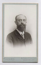PHOTO ANCIENNE CDV Portrait Homme Barbe Vers 1900 Bacard Montpellier Cravate