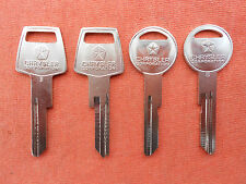 4 DODGE CHRYSLER PLYMOUTH NOS KEY BLANKS 1968 1969 68 69