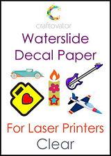 1 Hoja claro tobogán de agua de la etiqueta de papel Láser A4 Waterslide transferencia Craft muestra