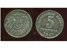 ALLEMAGNE 5 pfennig  1917 F