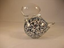 Solid Glass Bird Figure Paperweight Made In Sweden