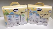 2 Set Baby Moments Chicco 2Bagnoschiuma 2Shampoo Acqua Di Colonia Pasta Lenitiva
