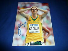 JOHAN CRONJE signed Autogramm In Person 20x28 cm BRONZE WM 2013 1500m