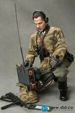"DID 12"" 1/6 Scale Radio Operator Sergeant Major Wolfram WWII German  D80095"