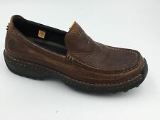 Timberland Brown Genuine Leather Slip On Men's Rugged Loafers size 10M 79504