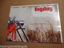 BIG DOG 2005 SALES BROCHURE POSTER RIDGEBACK CENTERFOLD MASTIFF CHOPPER BD PB