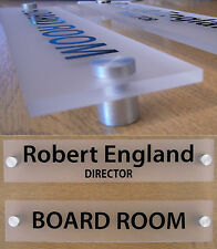 MODERN OFFICE DOOR / WALL SIGN / PLAQUE- QUALITY FROSTED ACRYLIC + STAND OFFS