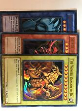 Egyptian God Cards set (Ultra Rare, YGLD) [Mint] Yugioh Slifer, Obelisk, Ra