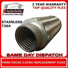 Ford Focus 2.0TDCi 2004-2011 Weld On Exhaust Replacement Flex Flexi For Cat Pipe