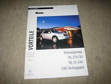 Mercedes ML 270 CDI / ML 55 AMG W163 Sonder Prospekt Brochure von 9/1999