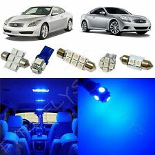 9x Blue LED lights interior package kit for 2008-2014 Infiniti G37 Coupe IG3B