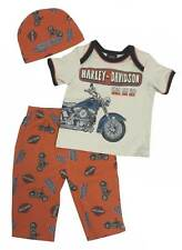 Harley-Davidson Baby Boys' Retro Motorcycle 3 Pieces w/ Gift Bag 2551557 (3/6M)
