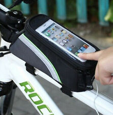 gray Cycling Bicycle Frame Front Tube Waterproof Cellphone Mobile Phone Bag