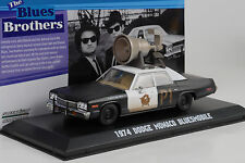 1974 Dodge Monaco Movie Blues Brothers Blues mobile Horn on roof 1:43 Greenlight