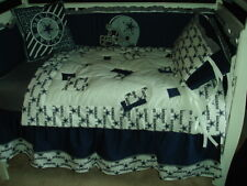 Custom Made Baby Nursery Crib Bedding Set made w/Dallas Cowboys fabric NEW
