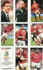 "WALES ON SUNDAY ""Lions 2001"" Full Set 40 Rugby Cards Loose"