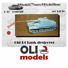1/72 Japanese Tank Destroyer CHI-RI Panzer '46 RESIN Kit - Modell Trans 72018
