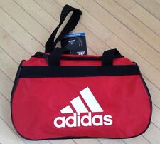 NWT ADIDAS DIABLO SMALL DUFFEL Gym Bag For Women/Men/Youth Scarlet/Black