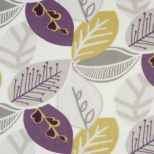 Clarke and Clarke Malena Heather Leaf Design Curtain Upholstery Craft Fabric