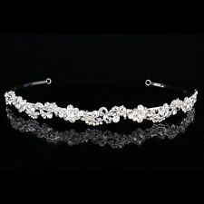 Bridal Rhinestone Crystal Prom Floral Wedding Headband Tiara 8884