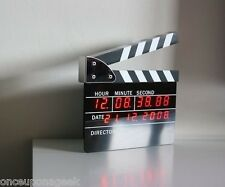 Retro Large Size Directors Edition Alarm Clock Clapper Board Clapperboard Table