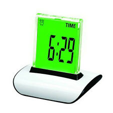 7 ColorS Changing Alarm Clock LED Digital Desk Calendar Thermometer Night Light