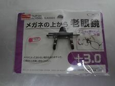 DAISO JAPAN Optical Clip-On Flip-Up Magnifying Reading Glasses+3.0 From Japan