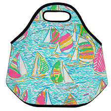 Lilly Pulitzer Sailing Monogram Lunch Bag For Women Insulated Neoprene Bag