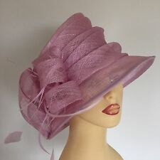 Ladies Occasion Wedding Races Mother Bride Hat Bubblegum Pink By Shaw Millinery