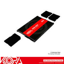 KORA Ultra Slim Memory Card Holder Storage Protector Compact Case for 4 SD
