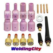 TIG Welding Large Gas Lens Accessory Kit .020~1/8 Torch 17/18/26 T7B   US Seller