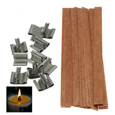 10PCS Wooden Wick Candle Core Perfect In Soy Paraffin Candle Making Supplies