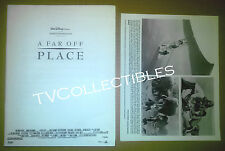 Pressbook + Photo~ Disney's A FAR OFF PLACE 1993 ~Reese Witherspoon ~Ethan Embry