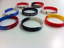 Xmas Stocking Filler Manchester Chelsea Madrid Milan Bracelet Football Team NEW
