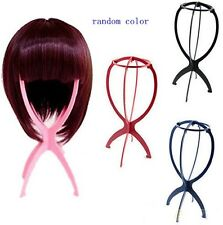 HS66 Folding Plastic Stable Durable Wig Hair Hat Cap Holder Stand Display RANDOM