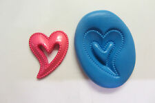 FUNKY HEART silicone mould sugar craft cake decorating fimo cernit cake pop